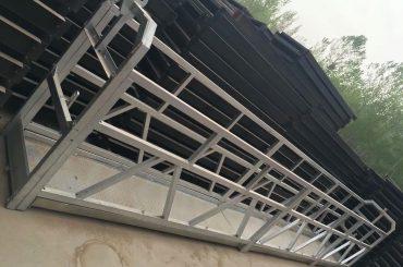 Zlp630 / 800 ll formos aliuminio lydinys, plieno konstrukcija pakabinama darbo platforma pakelti pastato langus