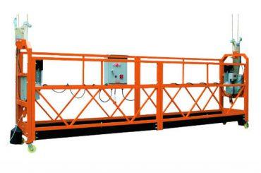 2.5M x 3 sekcijos 1000kg pakabinamos atraminės platformos kėlimo greitis 8-10 m / min