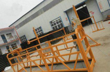 Patikimas ZLP630 dažymas Plieninė pakabinama darbo platforma statybai (2)