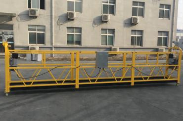 CE sertifikuotas zlp630 aliuminis elektrinis kabantis gondolas statybai